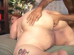 Lusty obese woman gets deep fisting