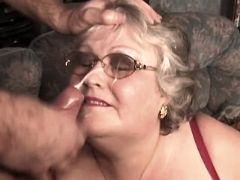 Fat granny has fuck and gets facial