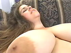 Enormous blonde mom enjoys vibrator