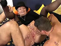 Sex adventure with three old whores