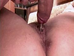 Chubby mom fucks and gets creampie