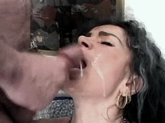 Mom gets cumshots on face and ass