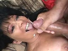 Enormous housewife enjoys vibrator
