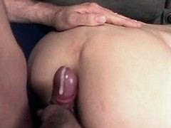 Elder mom fucks and gets cum on ass