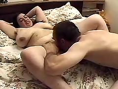 Fatty dildoes and takes double fuck