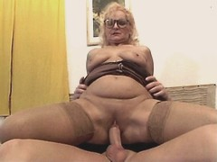 Granny sucks big cock and has fuck